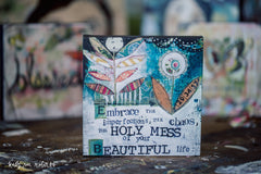 "Kelly Rae Roberts 6"" Wall Art-Beautiful Life"