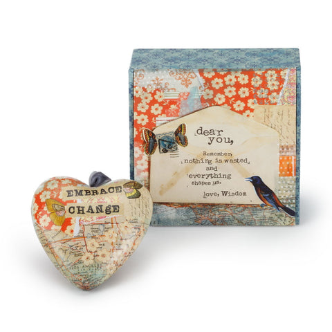 Kelly Rae Roberts Everything Shapes Us Boxed Heart Ornament **