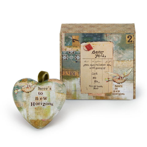 Kelly Rae Roberts Let Fear Go Boxed Heart Ornament **