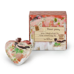 Kelly Rae Roberts Nurture Your Vision Boxed Heart Ornament **
