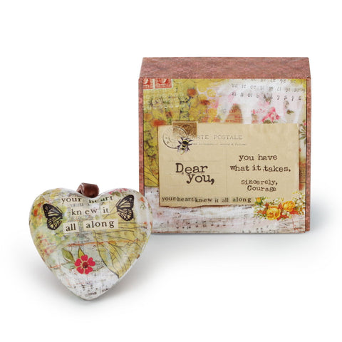 Kelly Rae Roberts What It Takes Boxed Heart Ornament **