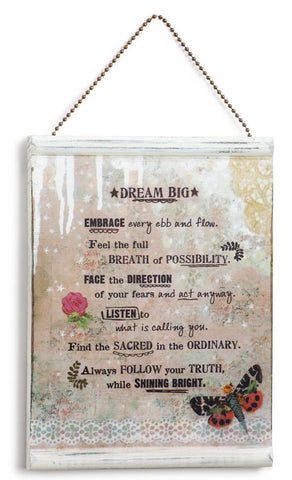 Kelly Rae Roberts Message Wall Plaque - Dream Big **