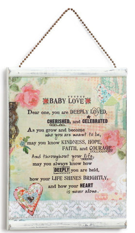 Kelly Rae Roberts Message Wall Plaque - Baby **
