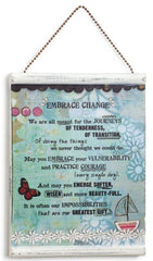 Kelly Rae Roberts Message Wall Plaque - Embrace Change **