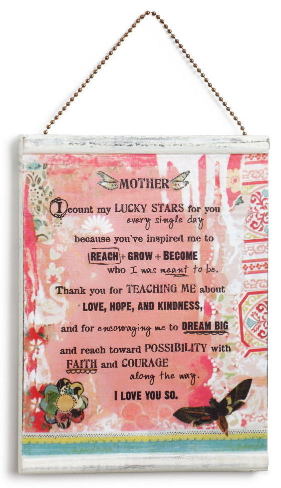 kelly rae roberts message wall plaque mother garden gallery iron