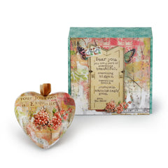 Kelly Rae Roberts Something Beautiful Boxed Heart Ornament **