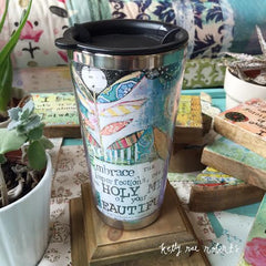Kelly Rae Roberts Holy Mess Traveler Mug