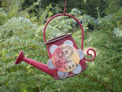 Kelly Rae Roberts Watering Can Ornament-Joy **