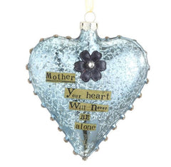 Kelly Rae Roberts Glass Heart Ornament-Mother