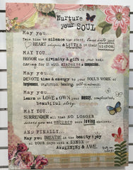"Kelly Rae Roberts 18"" x 24"" Wall Art-Nurture your Soul Manifesto"
