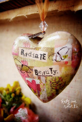 Kelly Rae Roberts Ornament-Heart Radiate Beauty **