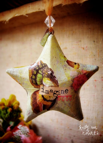 Kelly Rae Roberts Ornament-Star Imagine **