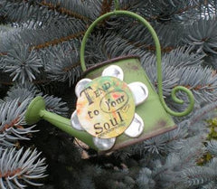 Kelly Rae Roberts Watering Can Ornament-Tend **