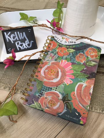 Kelly Rae Roberts Spiral Journal-Wild and Free