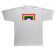 Load image into Gallery viewer, Square Rainbow Short Sleeve T-Shirt