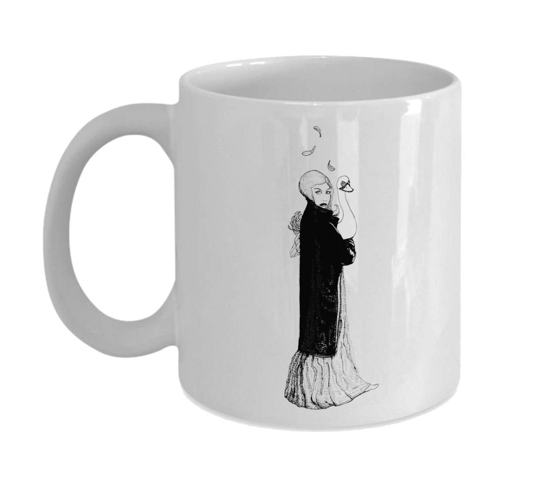 Mug 11oz - Girl with Swan