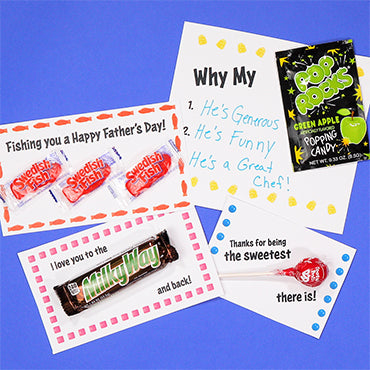 FATHER'S DAY CANDY CARDS