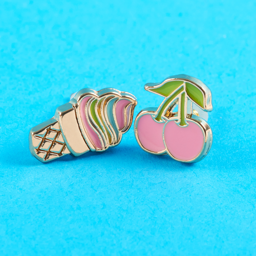 Ice Cream Cone & Cherry Stud Earrings - Dylan's Candy Bar