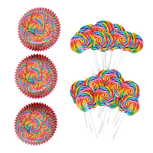 Whirly Cupcake Wrappers Toppers