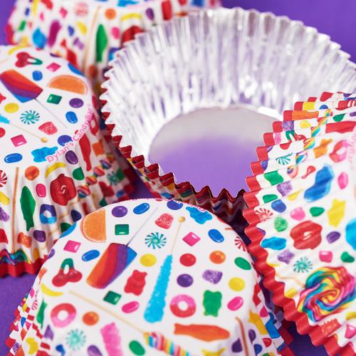 Candy Spill Cupcake Wrappers - Dylan's Candy Bar