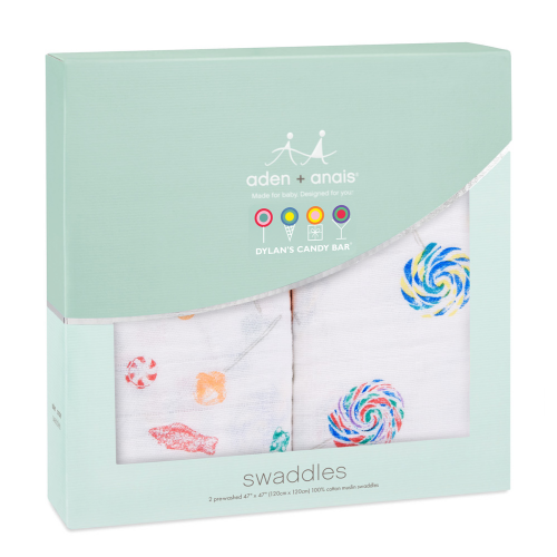 Dylan's Candy Bar x aden + anais swaddle (2 pack) - Dylan's Candy Bar