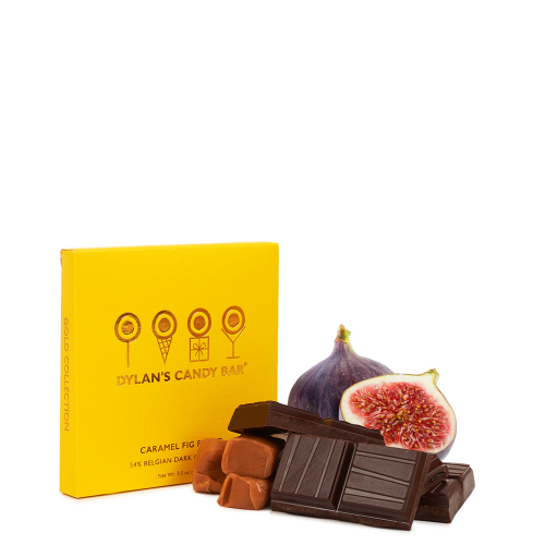 Dylan's Candy Bar Gold Collection Bar- Caramel Fig Filled Dark Chocolate - Dylan's Candy Bar
