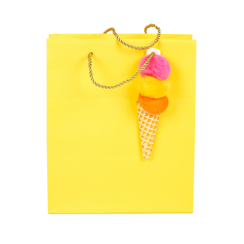 yellow-gift-bag-with-ice-cream-pom-poms-dylans-candy-bar