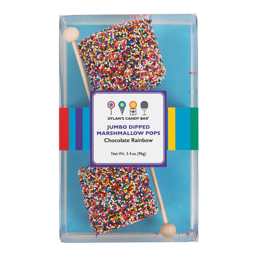Chocolatey Rainbow Jumbo Marshmallow Pops - Dylan's Candy Bar