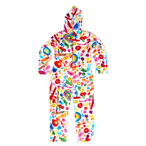 Fuzzy Candy Spill Onesie (Youth) - Dylan's Candy Bar