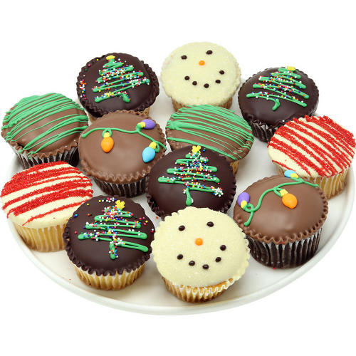 Belgian Chocolate-Covered Christmas Cupcakes - Dylan's Candy Bar