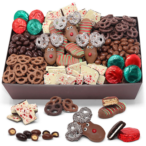 Belgian Chocolate-Covered Holiday Gourmet Large Gift Box - Dylan's Candy Bar