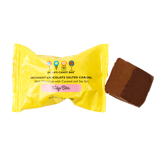 Dark Chocolate with Caramel & Sea Salt Fudge Bites - Dylan's Candy Bar