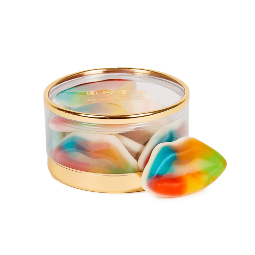 Gold Collection Multicolored Gummy Lips Tiny Treasures Box - Dylan's Candy Bar