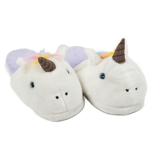 Fuzzy Unicorn Slippers (Youth) - Dylan's Candy Bar