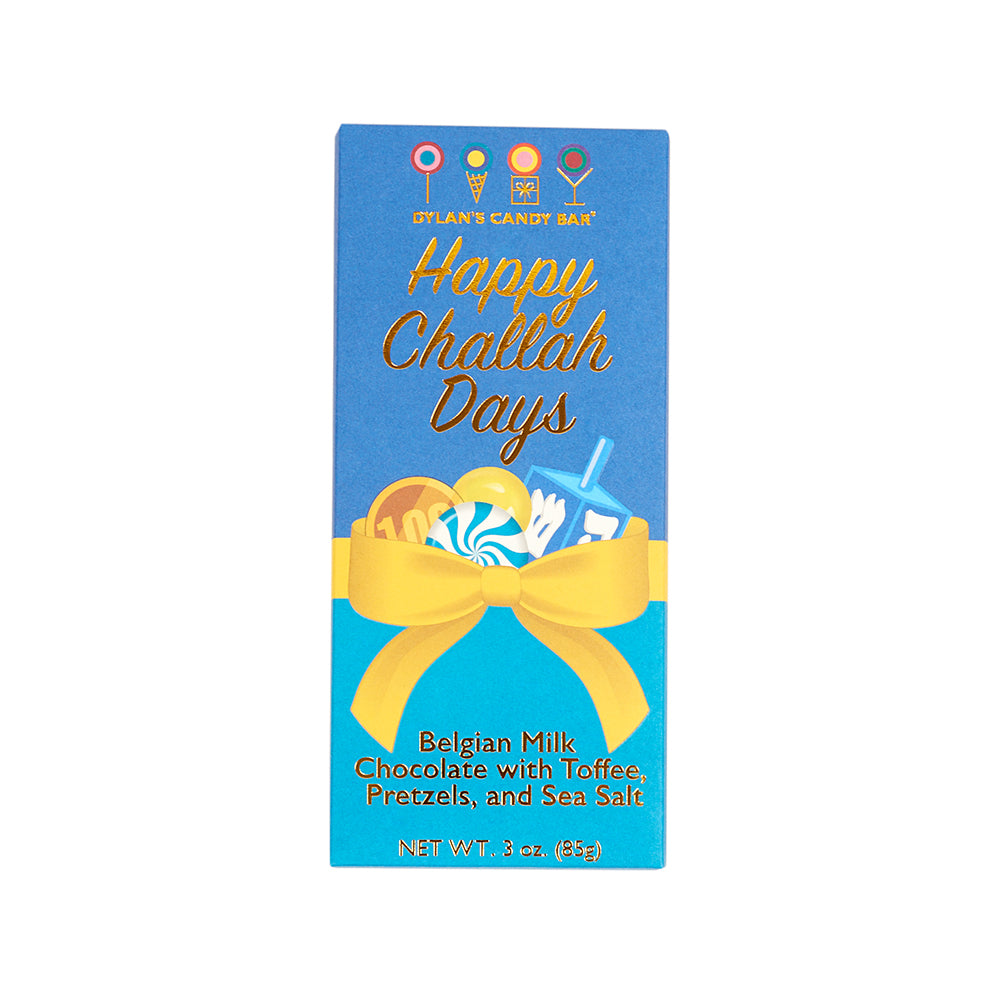 Happy Challah Days Hanukkah Bar - 3 Oz - Dylan's Candy Bar