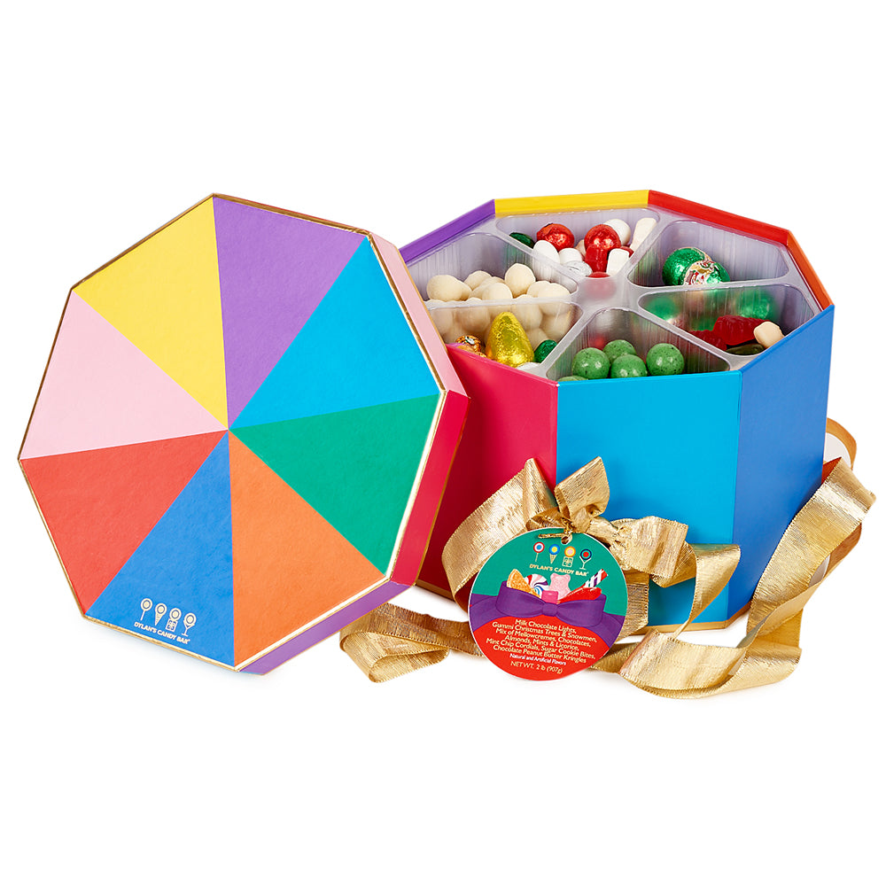 Christmas Octagon Gift Basket - Dylan's Candy Bar