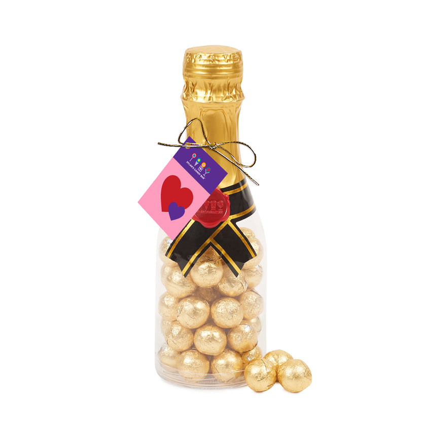valentines-day-champagne-bottle-filled-with-gold-marble-chocolates