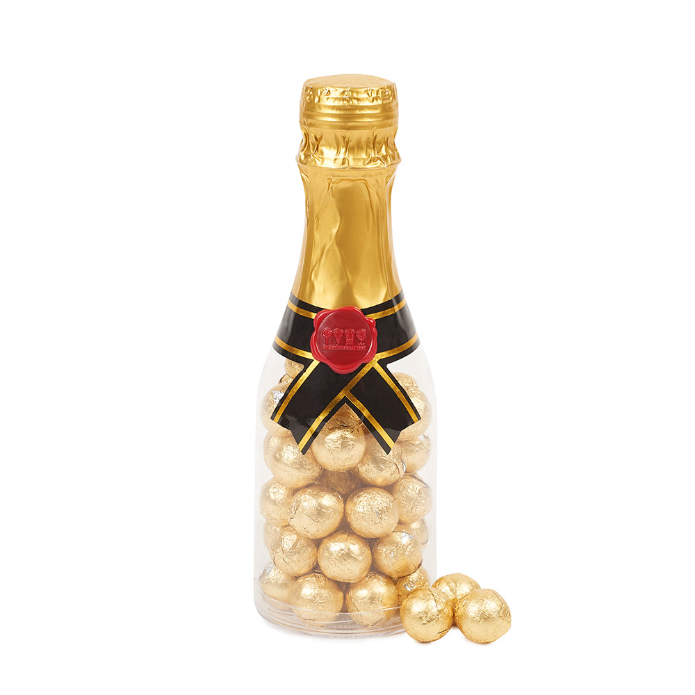 Champagne Bottle Filled with Gold Marble Chocolates - Dylan's Candy Bar