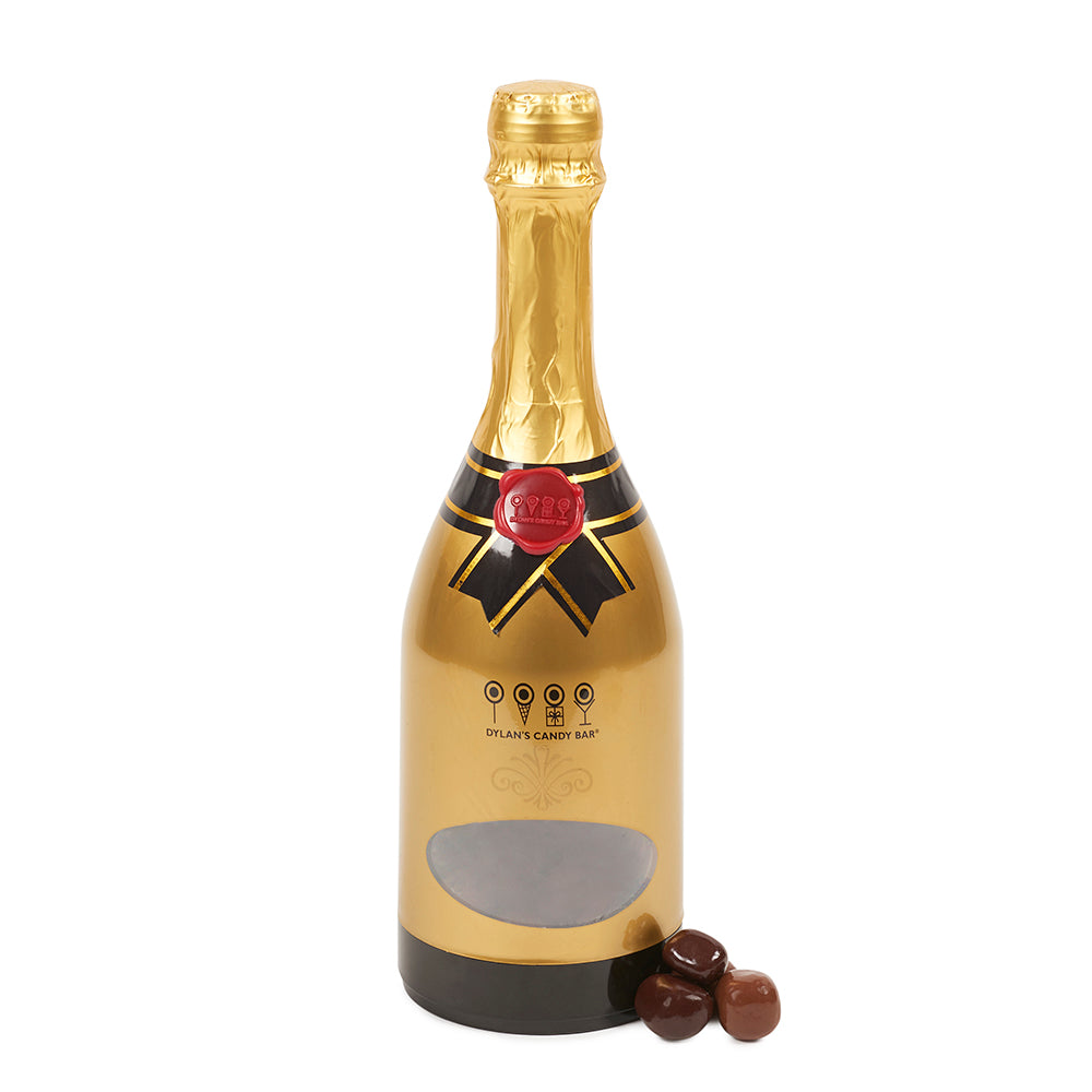 Large Champagne Bottle Filled with Sea Salt Caramels - Dylan's Candy Bar