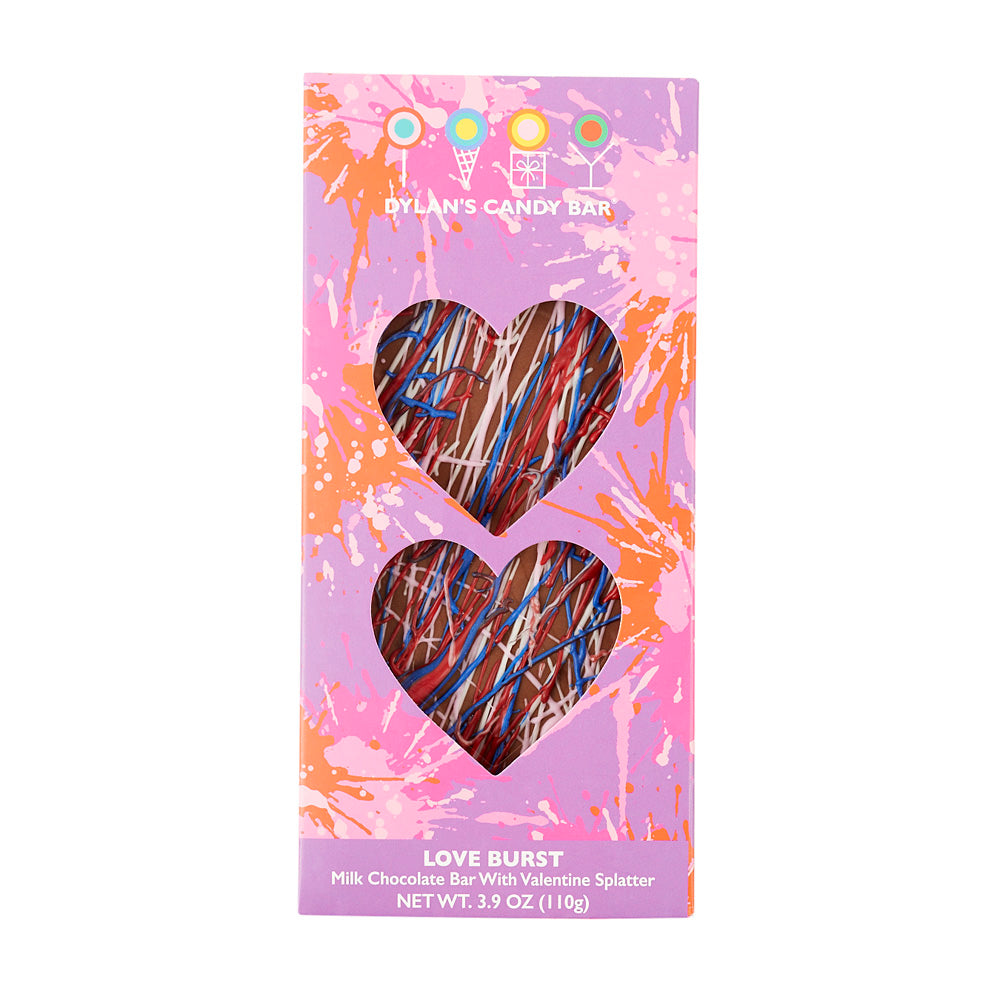 """Love Burst"" Valentine's Day Milk Chocolate Bar - Dylan's Candy Bar"