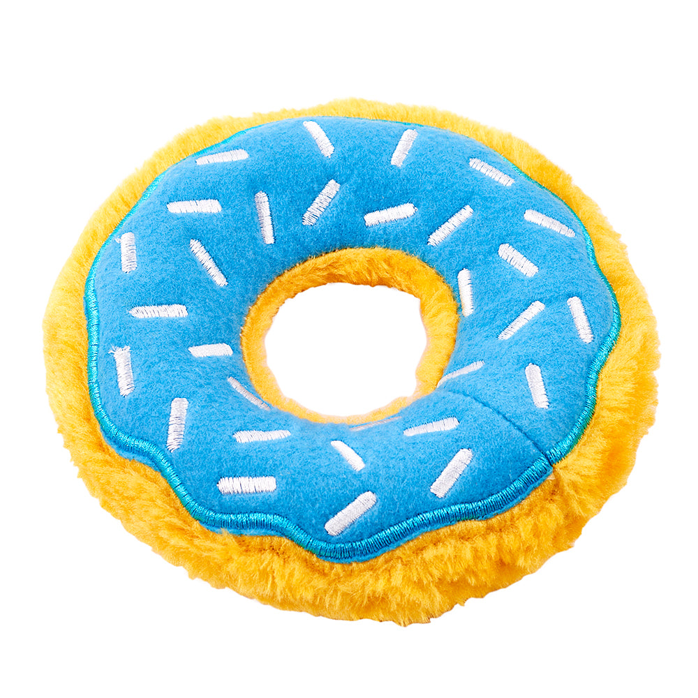 Blue Frosted Donut Dog Toy - Dylan's Candy Bar