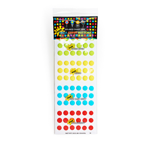 Mega Sour Candy Buttons - Dylan's Candy Bar