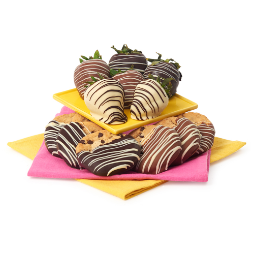 Belgian Chocolate Covered Strawberries & Gourmet Cookies - Dylan's Candy Bar