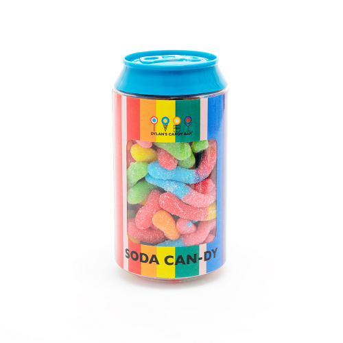 Mini Sour Gummy Worms Soda Can - Dylan's Candy Bar