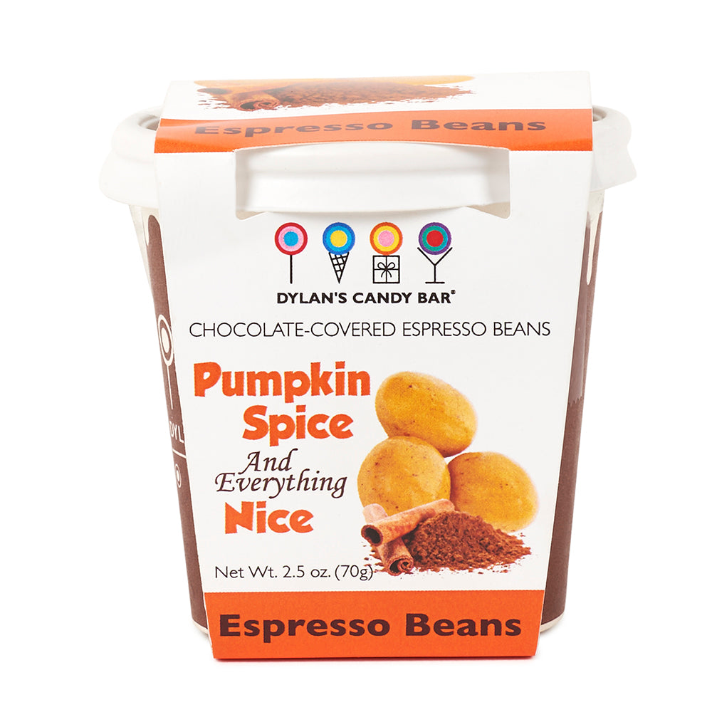 One Shot Pumpkin Spice Chocolate-Covered Espresso Beans - Dylan's Candy Bar