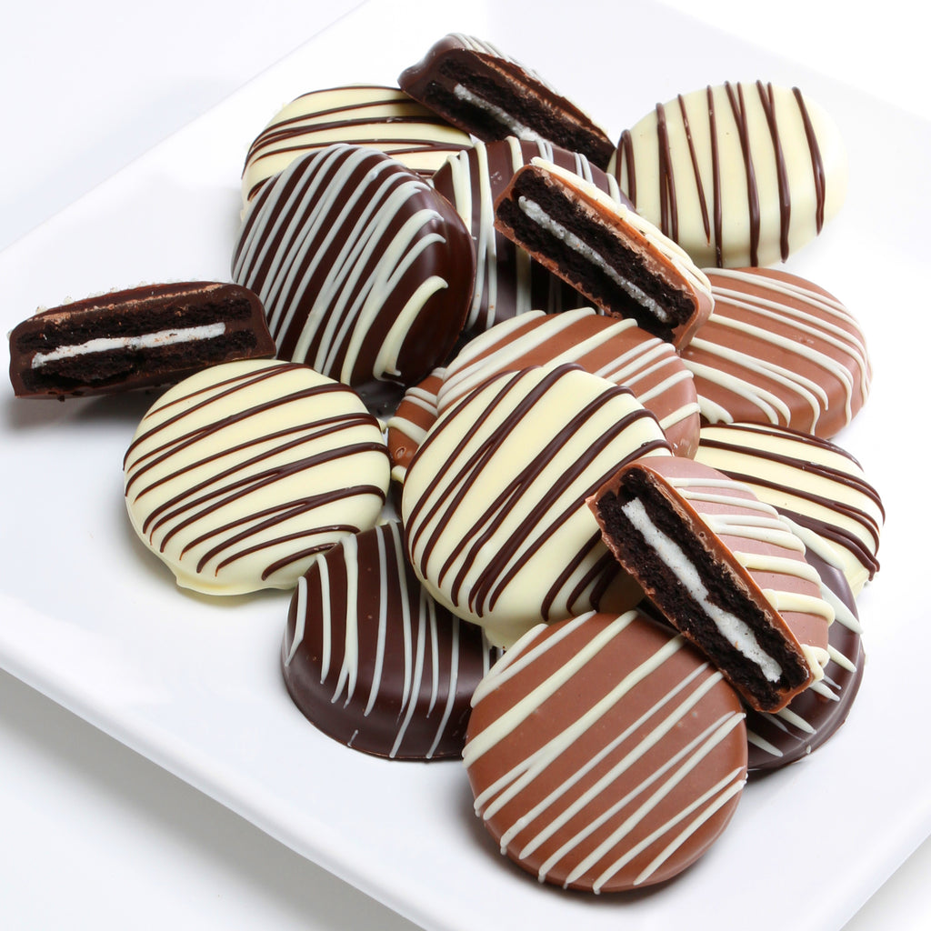 Assorted Belgian Chocolate Dipped Sandwich Cookies