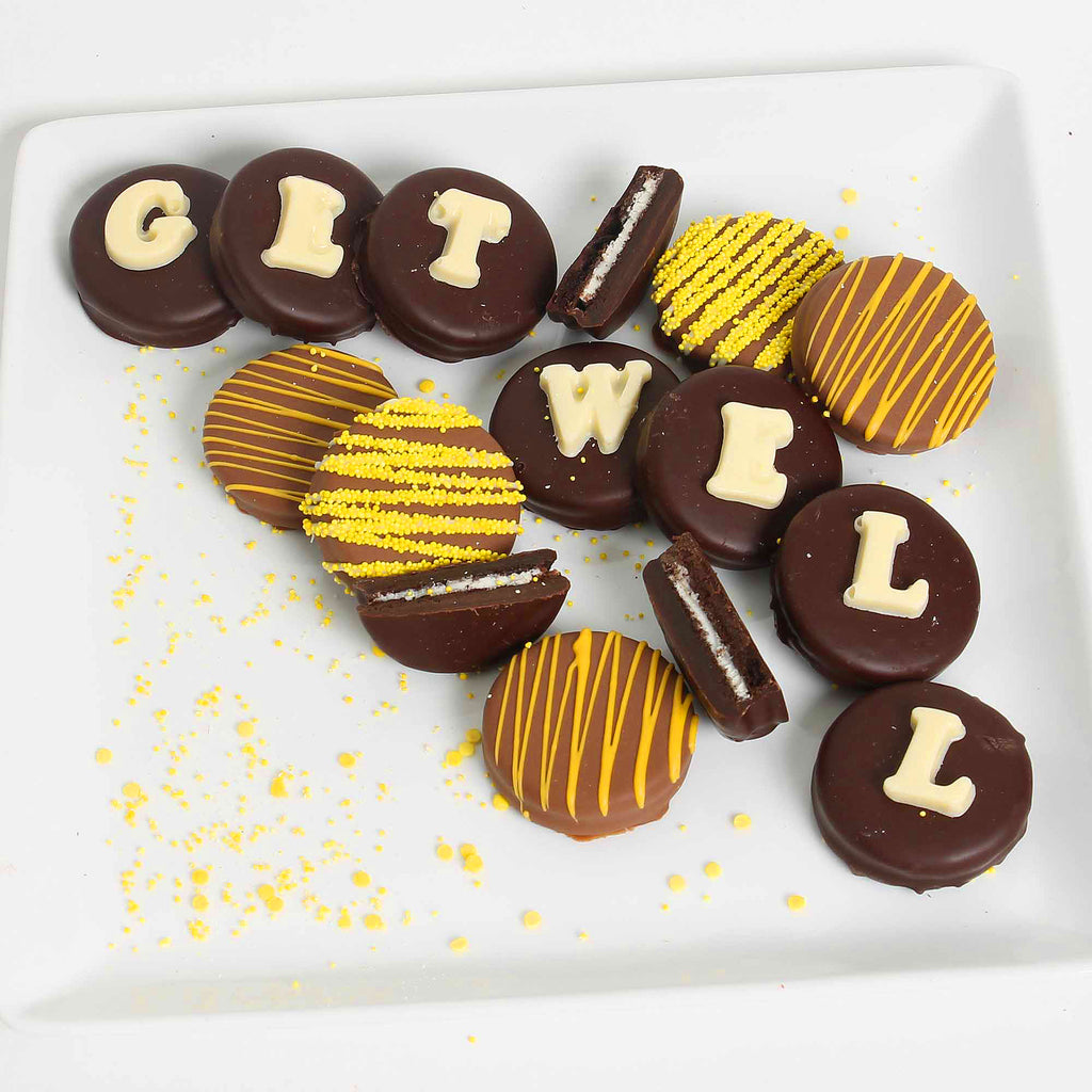 Get Well Belgian Chocolate Dipped Sandwich Cookie Box