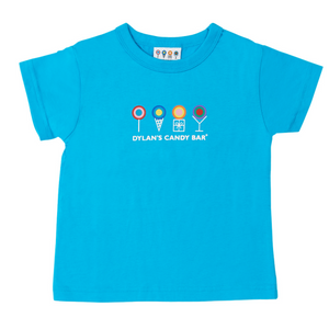 Turquoise Short Sleeve Dylan's Candy Bar Logo Tee (Toddler) - Dylan's Candy Bar