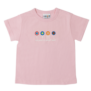 Pink Short Sleeve Dylan's Candy Bar Logo Tee (Toddler) - Dylan's Candy Bar