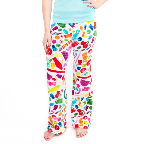 Fuzzy Candy Spill Pants (Women) - Dylan's Candy Bar